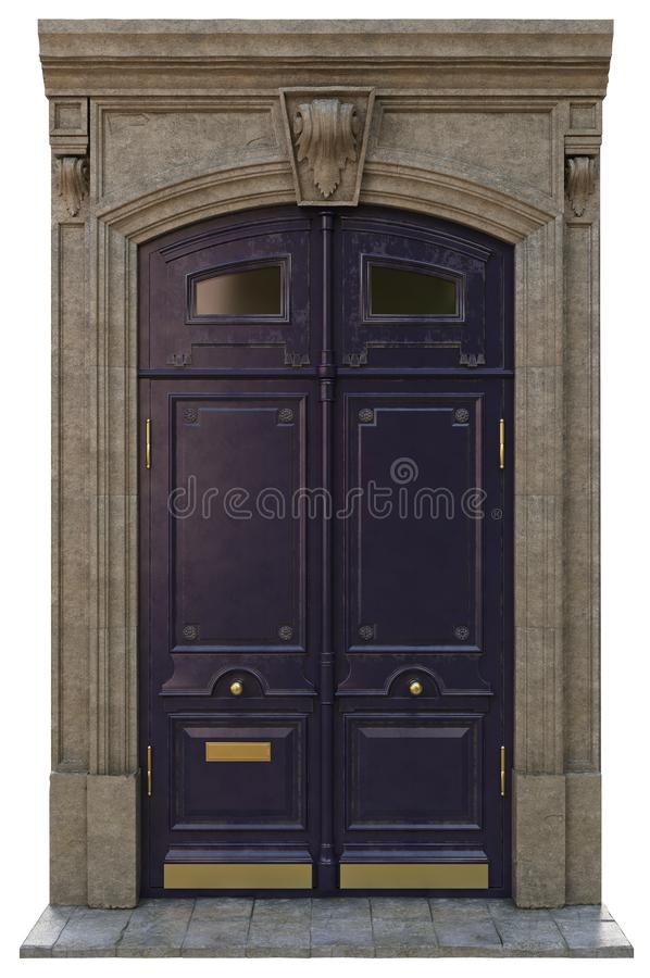 Puertas clásicas de la entrada foto de archivo