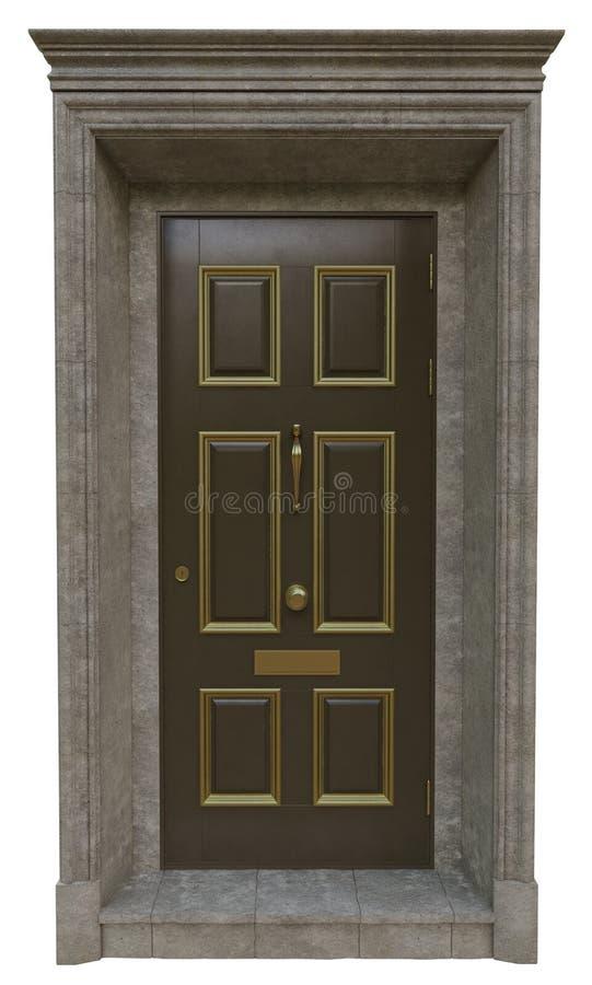 Puertas clásicas de la entrada foto de archivo libre de regalías