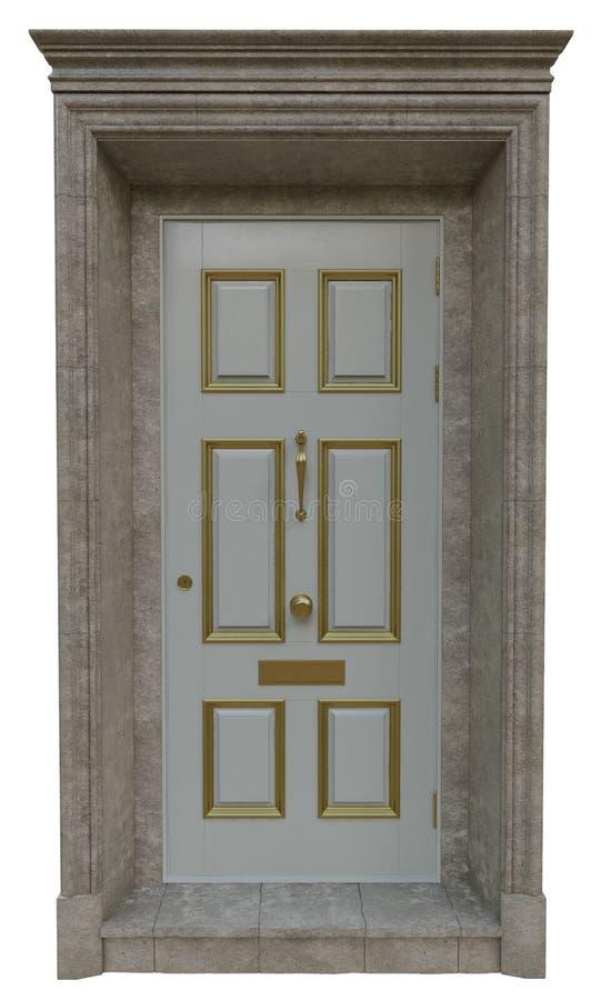Puertas clásicas de la entrada fotografía de archivo