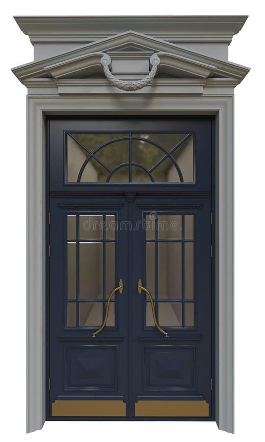 Puertas clásicas de la entrada fotos de archivo