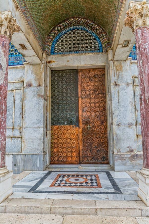 Puertas de cobre Jerusalén fotos de archivo