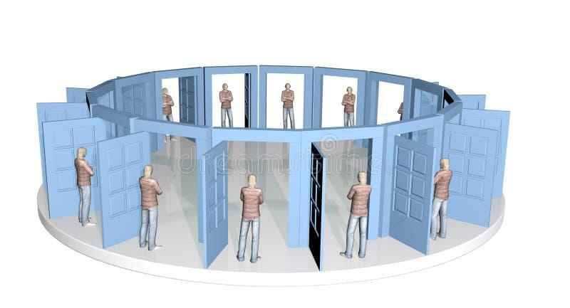 Puertas de la igualdad stock de ilustración