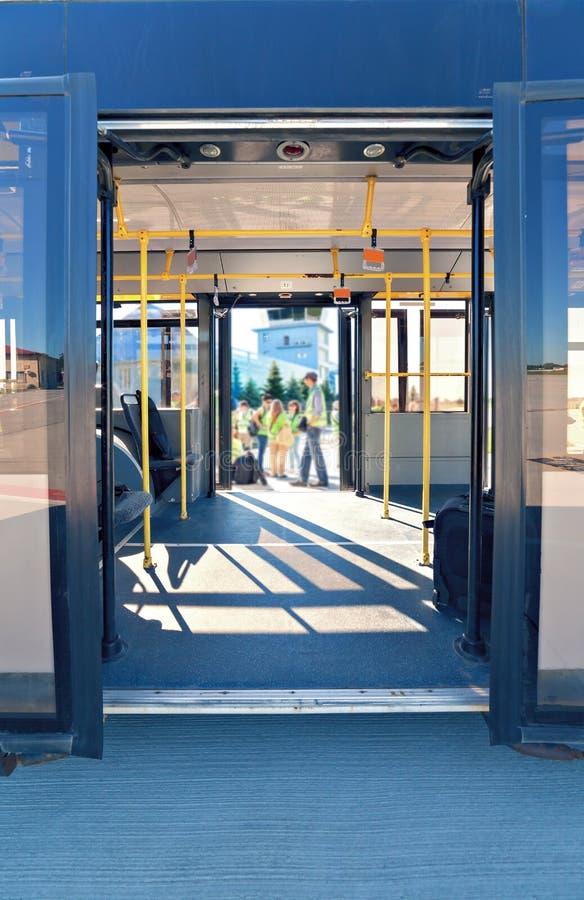 Puertas del autobús foto de archivo libre de regalías