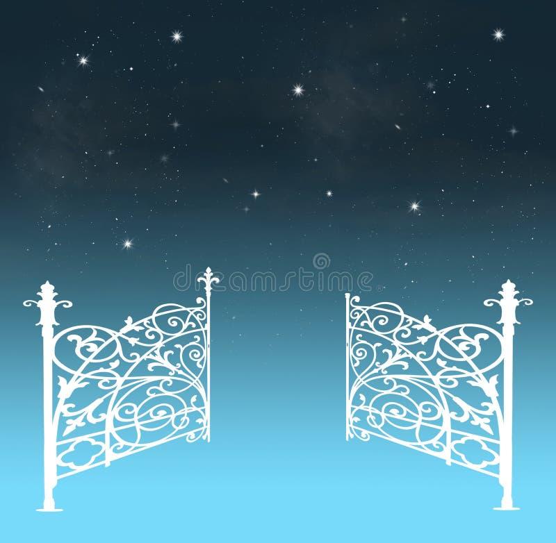 Puertas del cielo stock de ilustración