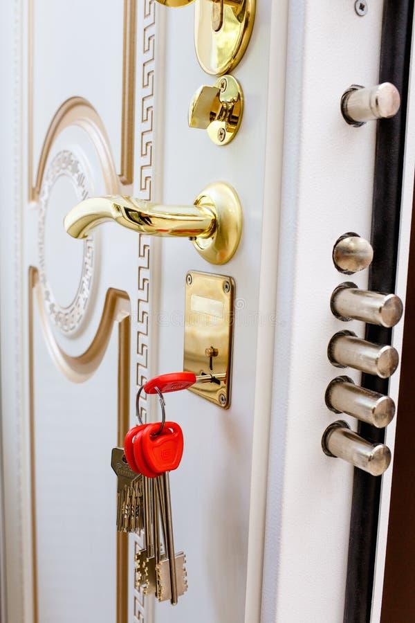 Puertas del metal de la entrada fotos de archivo
