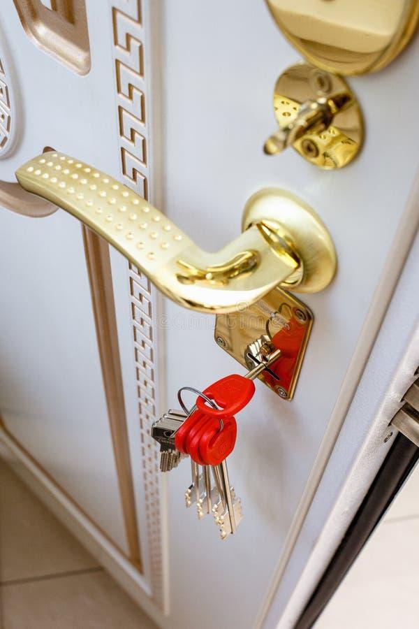 Puertas del metal de la entrada imagen de archivo