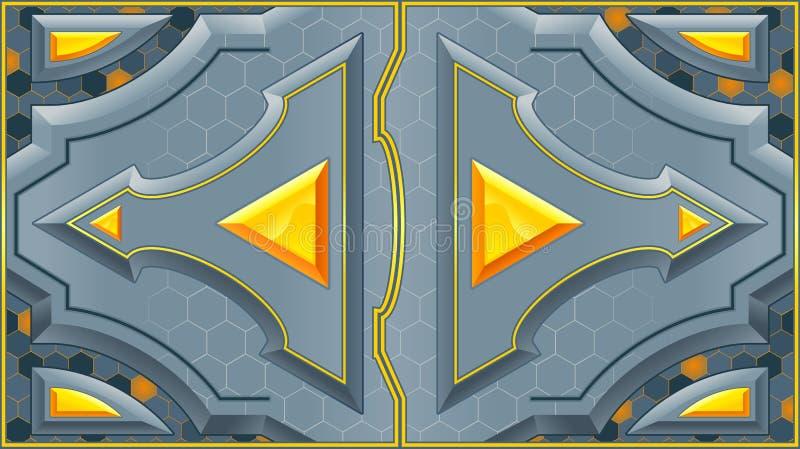 Puertas deslizantes. ilustración del vector