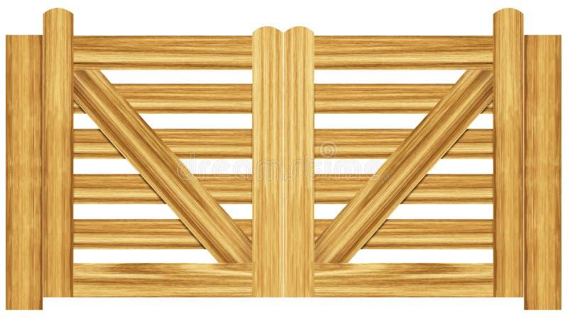 Download Puertas dobles stock de ilustración. Ilustración de pino - 7275087