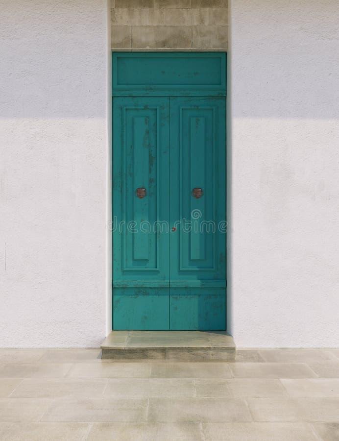 Puertas en colores brillantes imágenes de archivo libres de regalías