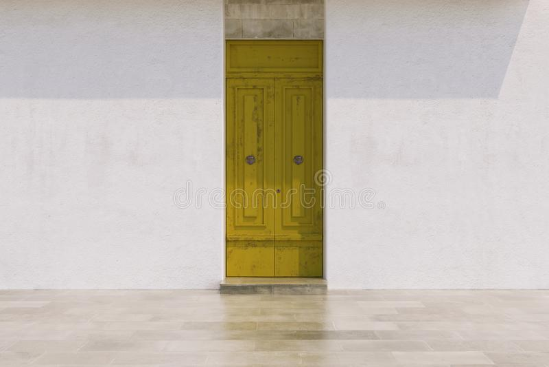 Puertas en colores brillantes imagenes de archivo