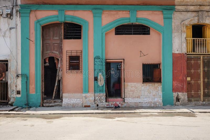 Puertas en La Habana, Cuba fotos de archivo libres de regalías