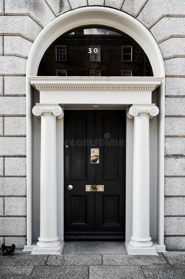 Puertas georgianas elegantes imagen de archivo libre de regalías