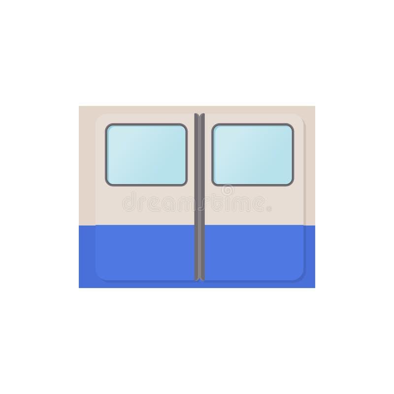 Puertas icono, estilo del metro de la historieta libre illustration