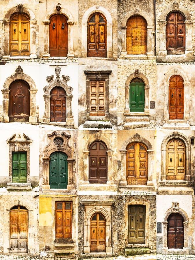Puertas italianas foto de archivo libre de regalías