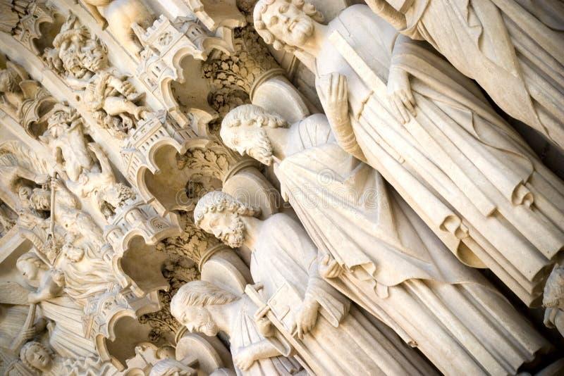 Puertas a la catedral de Notre Dame imagen de archivo libre de regalías