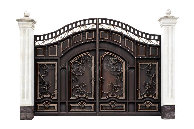 Puertas modernas del hierro labrado fotos de archivo