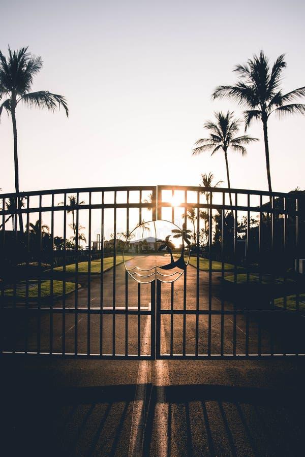 Puertas nacaradas en Kona, Hawaii fotografía de archivo