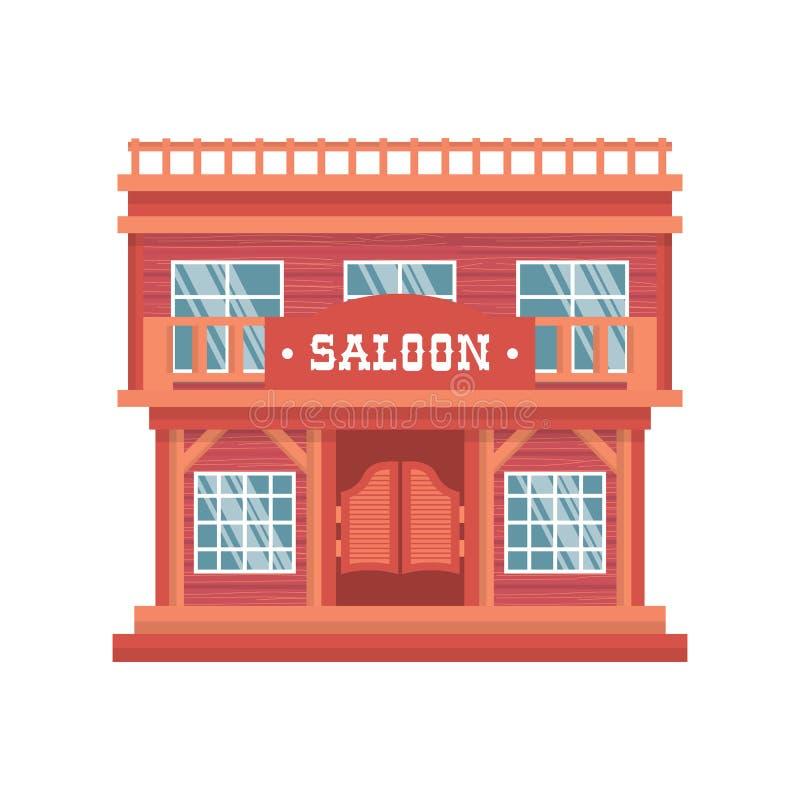 Puertas occidentales del salón stock de ilustración
