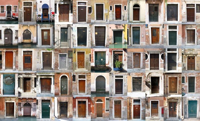 Puertas - Venecia, Italia fotos de archivo libres de regalías