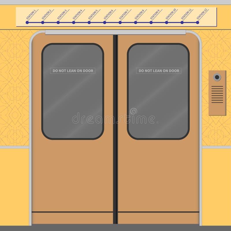 Puertas viejas del metro libre illustration