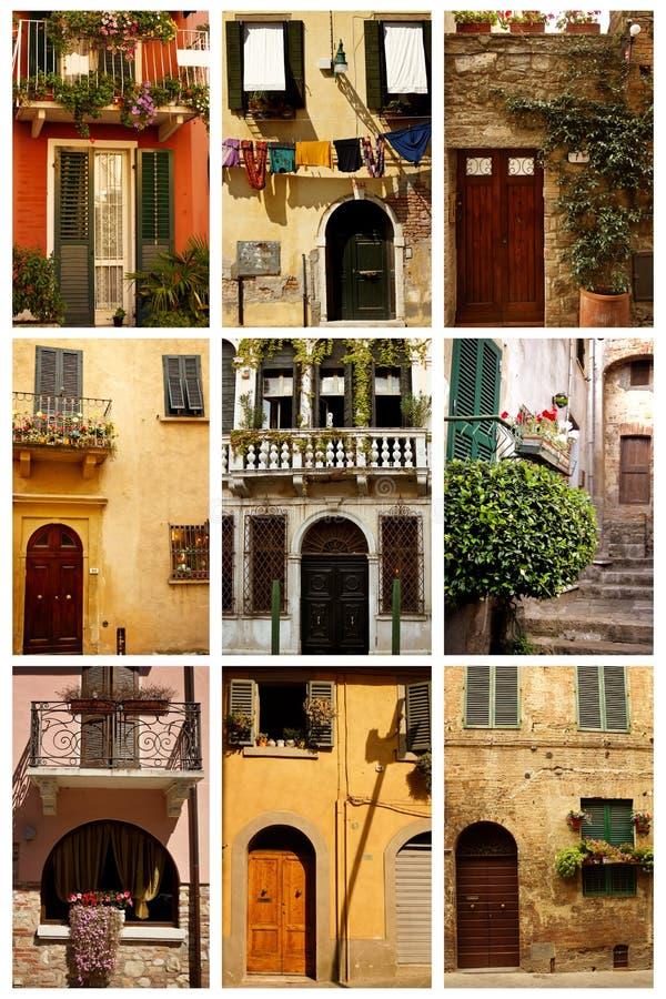 Puertas y ventanas fotos de archivo