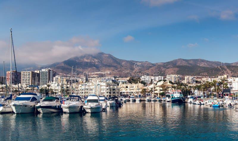 Puerto小游艇船坞天视图  免版税图库摄影