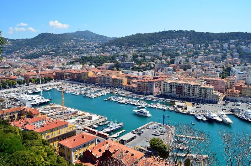 Puerto agradable de la ciudad en la foto de Francia fotos de archivo libres de regalías