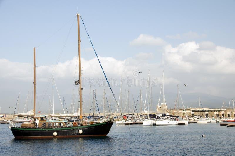 Puerto Ajacio Córcega Francia de los barcos foto de archivo libre de regalías
