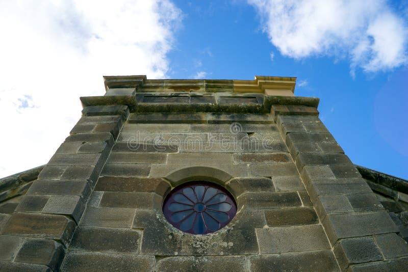 Puerto Arthur Historic Site Church Tower fotos de archivo libres de regalías