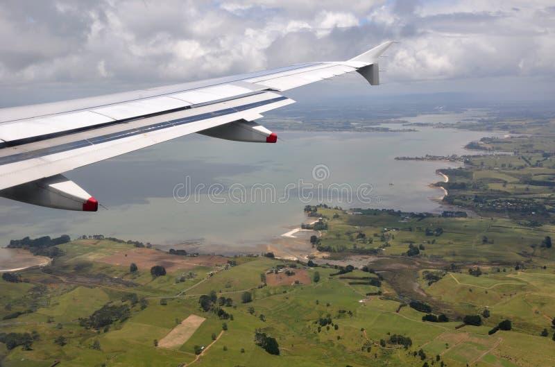 Puerto Auckland, antena, Nueva Zelandia de Manakau foto de archivo