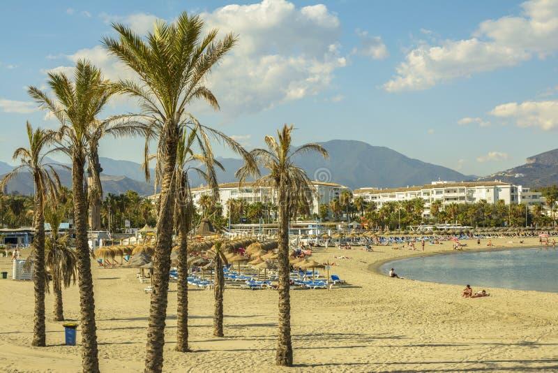 Puerto Banus beach, Marbella, Spain stock images