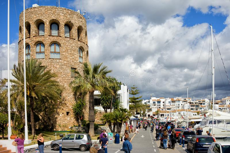 Puerto Banus на Косте del Sol в Испании стоковое изображение