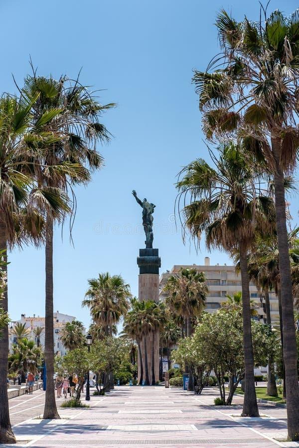PUERTO BANUS ANDALUCIA/SPAIN - MAJ 26: Los Angeles Wiktoria lub zwycięstwo S fotografia stock