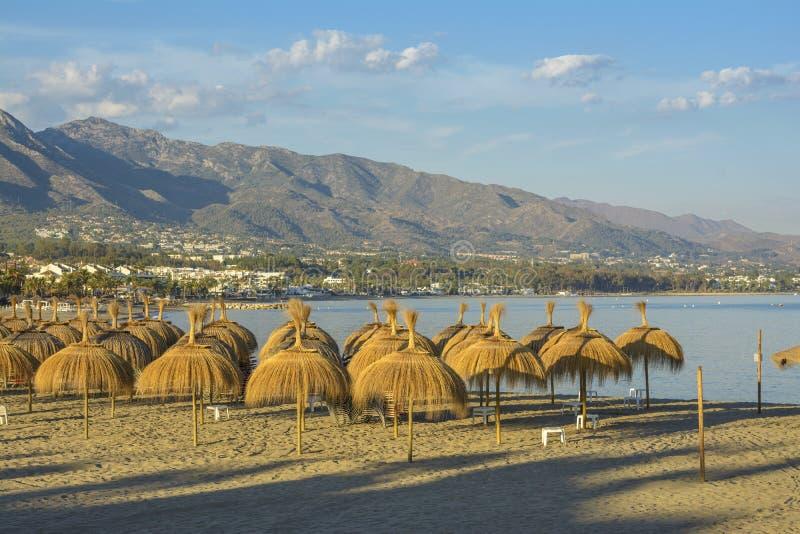 Puerto Banus beach, Marbella, Spain stock image