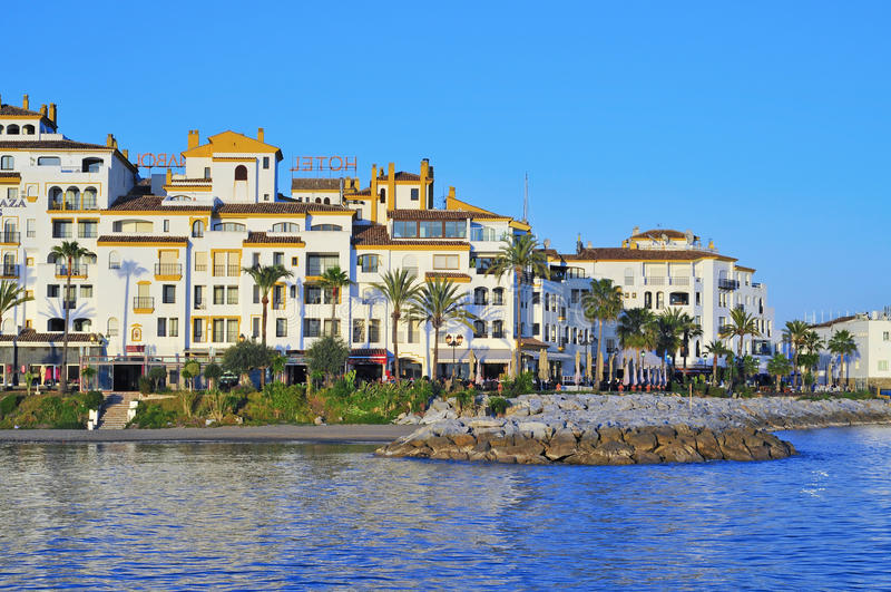 Puerto Banus en Marbella, España fotos de archivo libres de regalías