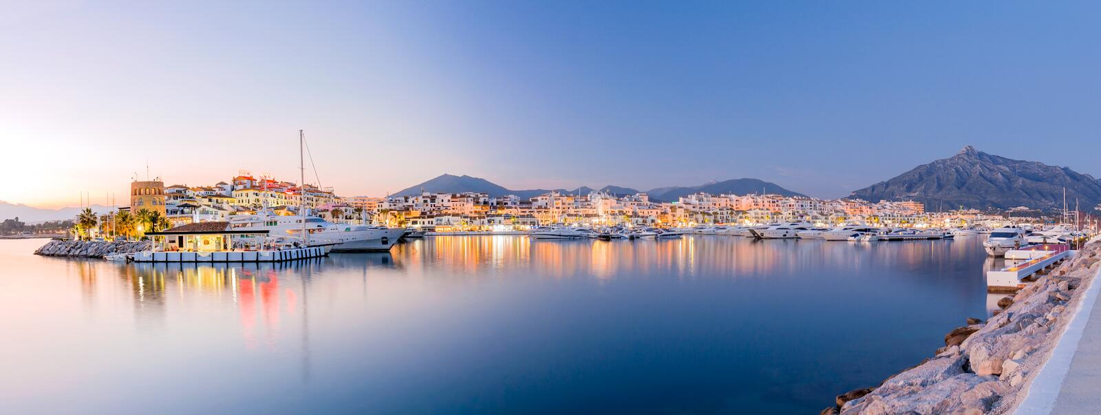 Puerto Banus landscape stock photography