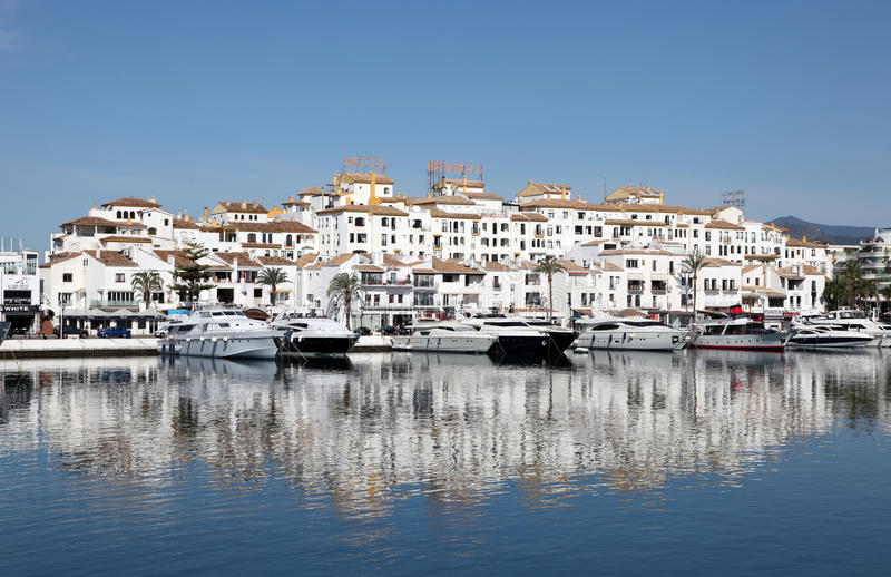 Puerto Banus, Marbella, Spain royalty free stock photo