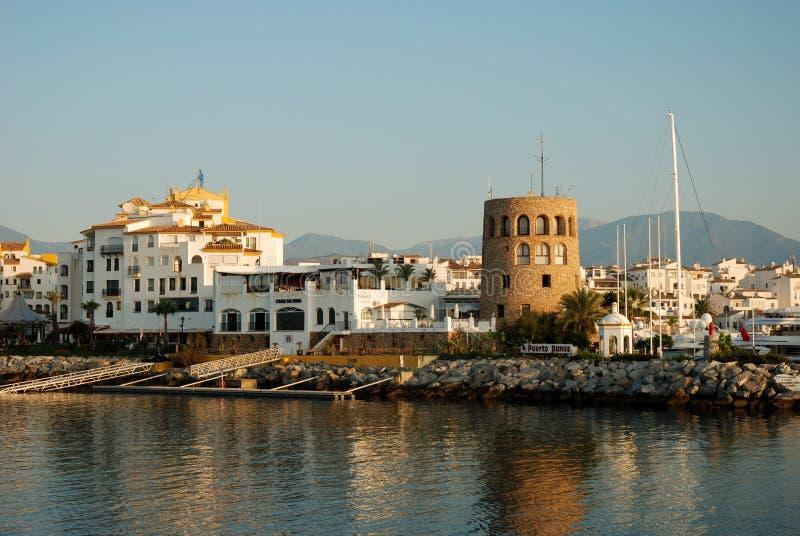 Puerto Banus in Marbella Spain. View of Puerto Banus harbour, in Marbella, Spain stock image