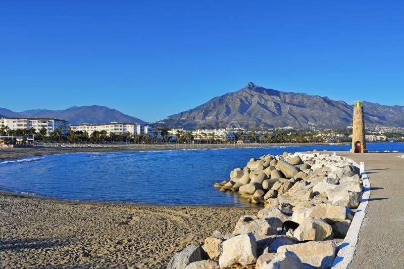 Puerto Banus in Marbella, Spanje royalty-vrije stock fotografie