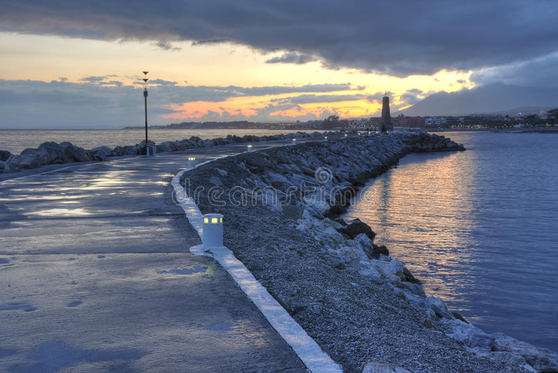 Puerto Banus seafront,Costa del Sol,Spain royalty free stock photos