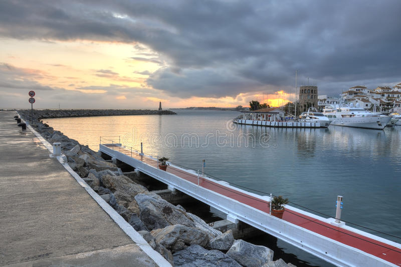 Puerto Banus seafront,Costa del Sol,Spain royalty free stock photography
