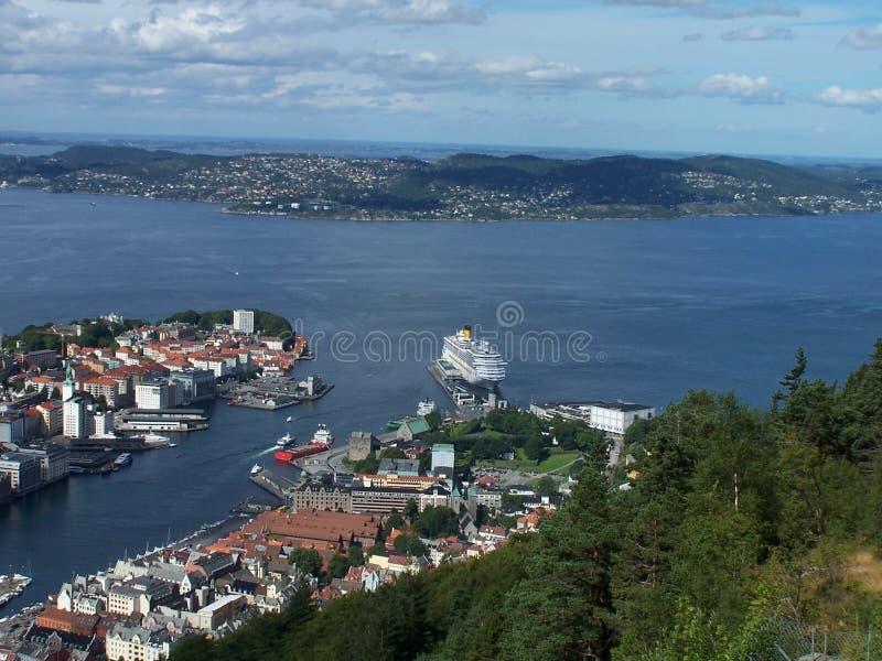 Puerto, Bergen - Noruega foto de archivo