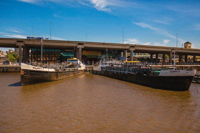 Puerto Buenos Aires la Argentina Rio de la Plata foto de archivo libre de regalías