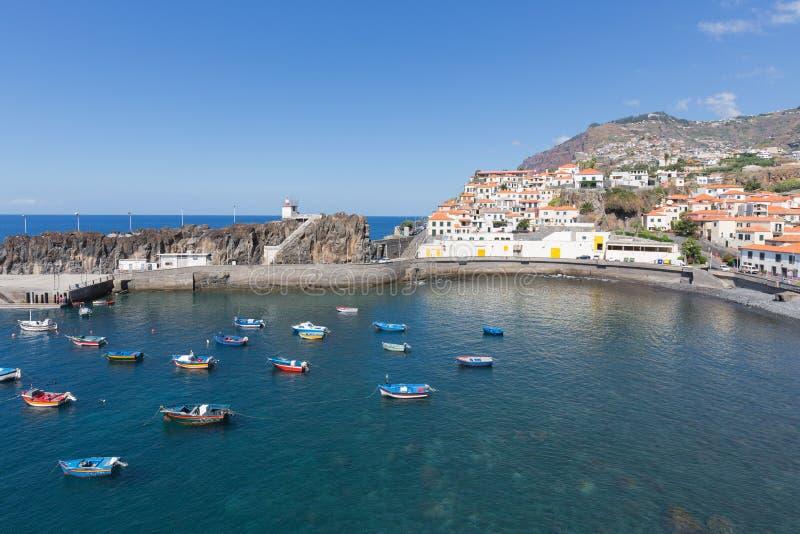 Puerto Camara de Lobos cerca de Funchal, isla de Madeira imagen de archivo