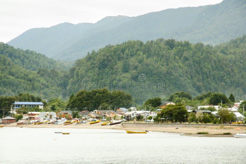 Puerto Cisnes - Chile imagenes de archivo