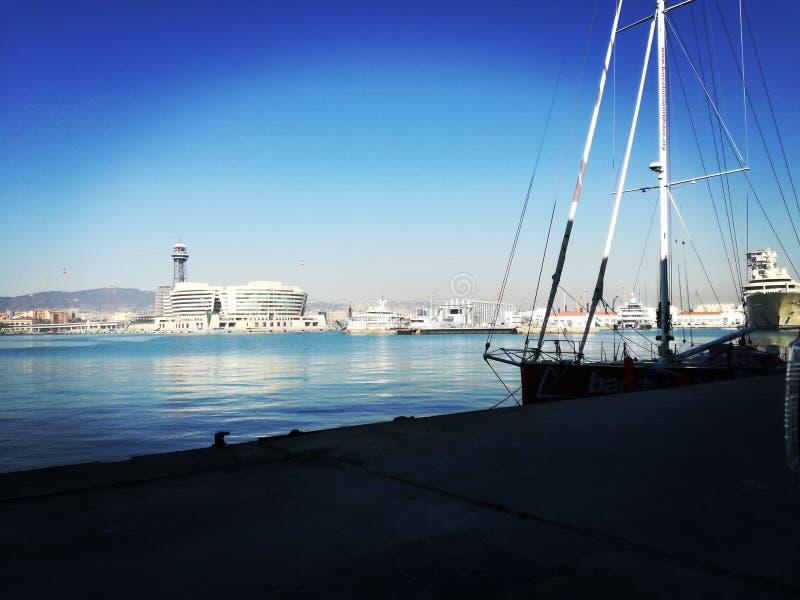 Puerto de Βαρκελώνη στοκ εικόνες