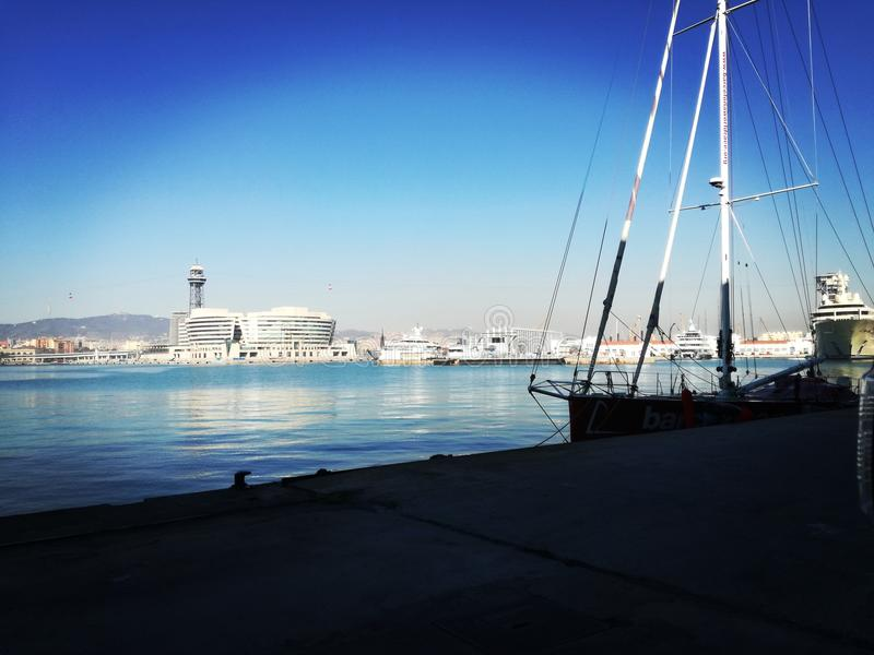 Puerto de Барселона стоковое фото