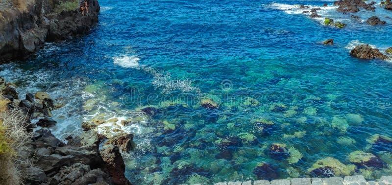 Puerto de Ла Cruz, остров Тенерифе стоковое изображение rf