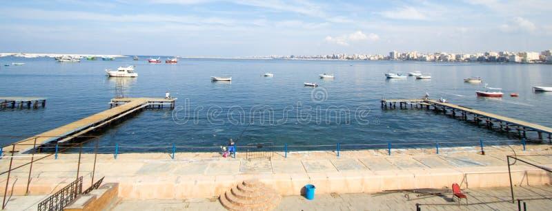 Puerto de Alexandría imágenes de archivo libres de regalías