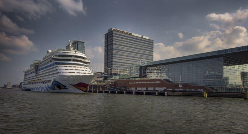 Puerto de Amsterdam imágenes de archivo libres de regalías